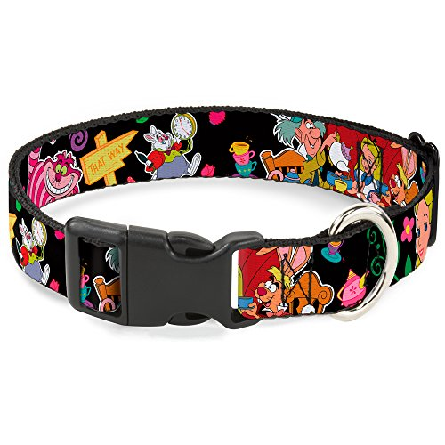 Buckle-Down Plastic Clip Collar - Alice's Encounters in Wonderland - 1