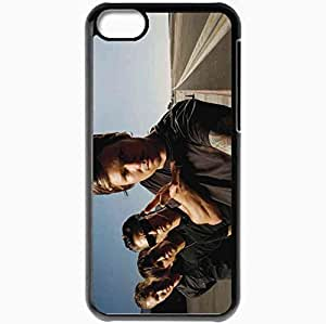 Personalized iPhone 5C Cell phone Case/Cover Skin Angels Airwaves Road Sunlight Sky Hands Black