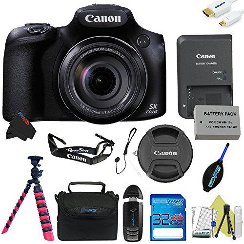 Canon PowerShot SX60 HS Digital Camera + Pixi-Basic Accessory Kit – International Version