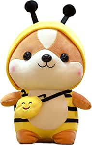 Apostasi Cute Squirrel Shiba Inu Dog Plush Toy Pillow, Stuffed Soft Animal Pillow, Plush Big Stuffed Animal Dolls Cuddly Cushion Christmas Birthday Gifts for Toddler Kids Girls Adults