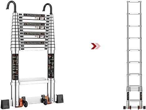 Extensibles Escalera telescópica Escalera recta Escalera de aluminio Escalera extensible con ganchos (Size : 3.2m(10.5ft)): Amazon.es: Bricolaje y herramientas