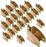 E Track 1845 Beam Socket for Cargo Control, Shelf Brackets, Lofts Inside of Trailers - 20 Pack
