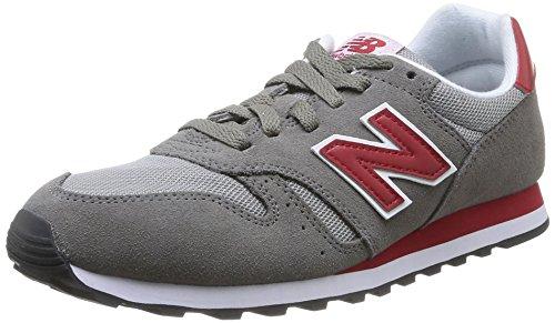 New Balance 373 - Zapatillas para hombre, color grey with red, talla 42