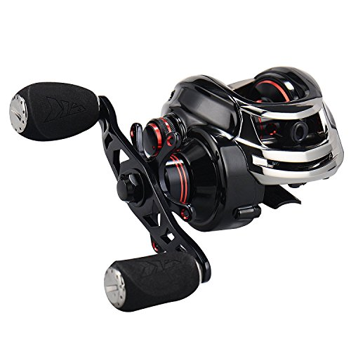 KastKing Royale Legend/Whitemax Low Profile Baitcasting Fishing Reel – 11 +1 Shielded Bearings, 17.5 Lb Carbon Fiber Drag