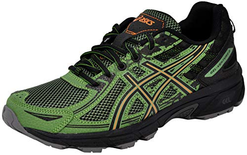 ASICS Mens Venture 6 Running Sneaker, Cedar Green/Lava Orange, Size 8