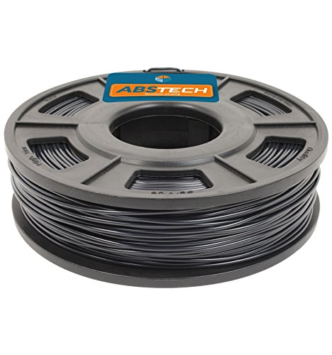 ABS Tech 250g. Black 1.75 mm Low warping A.B.S. Filament for 3D Printer