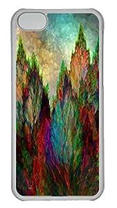 Fun Day Autumn Landscape Personalized Custom Hardshell Back Case For Iphone 5C Transparent -1126023