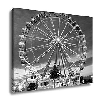 Amazon.com: Ashley Canvas Ferris Wheel, Wall Art Home Decor, Ready ...