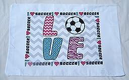 Love Soccer Standard Pillowcase