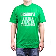 Grandpa Man Myth Legend Green T-shirts for Grandfathers Fathers Day Gifts