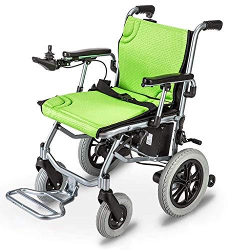 GJJSZ Sillas de Ruedas electricas Plegables Inteligentes compactas portatiles Ligeras Scooter Auml;Ancianos discapacitados Coche de Ayuda 19 KG, conduccion 20 km