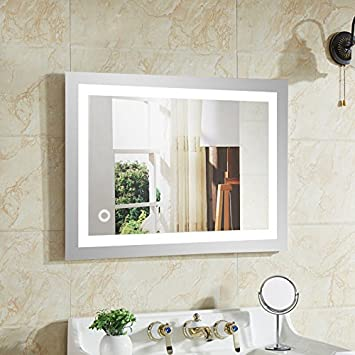 avec lumi/ère 9W 50 * 70,4mm,9w wefun Miroir Mural Salle de Bain avec /éclairage