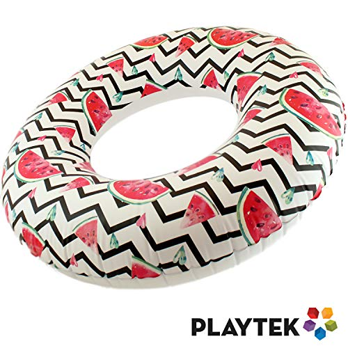 Playtek Large Round Tropical Watermelon Inflatable Tube Now $3.49 (Was $15.99)