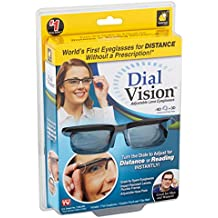 Dial Vision Unisex Glasses by BulbHead, Adjustable Lenses from -6D to +3D Power