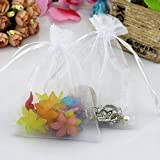Wuligirl 100 PCS 4x6 Inches Drawstring Organza Bag