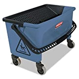 Rubbermaid Commercial Finish Mop Bucket with Wringer, 28-Quart, Blue