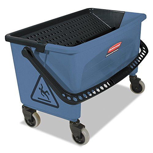 Rubbermaid Commercial Finish Mop Bucket with Wringer, 28-Quart, Blue ()