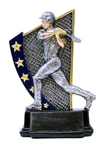 Rising Star Baseball Awards - Decade Awards Baseball Rising Star Trophy - Male | Batting Award | 5.875 Inch Tall - Customize Now