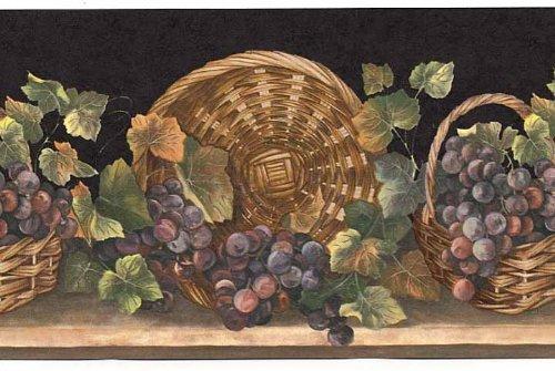 wine and grape border - 4