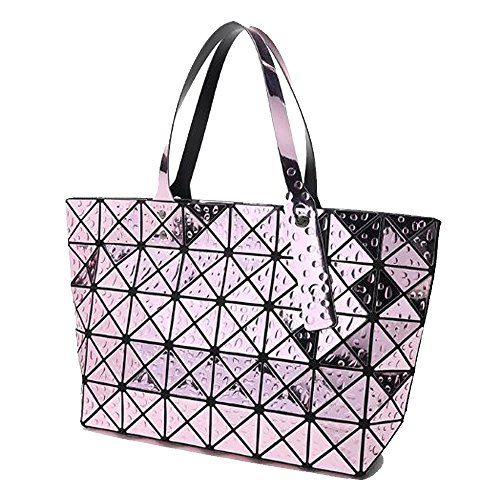 Lady Bag Bag Bag Purple Folding Blue Lingge Quotation Work Package Shoulder adier Laser Hq Drop Bag Geometry Bag FZSBnY