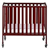 Dream On Me 3-in-1 Folding Portable Crib, Cherry, Large