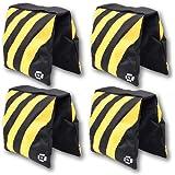 PBL Saddlebag Sandbags 4 NEW Sand Bags Heavyduty Saddle BAG Holds 20lbs Weight Bags for Photo Video Studio Stand By Pbl