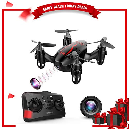 DROCON GD60 Mini Drone RC Quadcopter with 720P HD Camera Live Video, Headless Mode, 360° Flip Function, Easy & Safe to Fly – Great Choice for Kids/Beginners