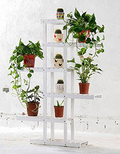 Amazon.com: WENBO HOME- Solid wood flower stand multi - storey floor ...