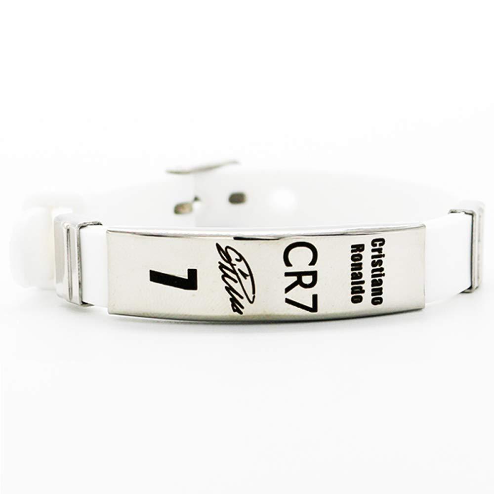 Lorhs store Fu/ßball Cristiano Ronaldo inspirierende Unterschrift verstellbare Armb/änder CR7 Sport Silikon Armband 4 St/ück