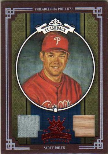 - 2005 Diamond Kings Materials Framed Red #419 Scott Rolen Phils Bat / Jersey Game-Used Memorabilia Card Serial #'d/100