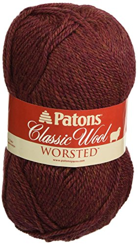 Patons  Classic Wool Yarn - (4) Medium Gauge 100% Wool - 3.5oz -  Cognac  -   For Crochet, Knitting & Crafting ()