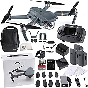 DJI Mavic Pro FLY MORE COMBO Collapsible Quadcopter Starters Bundle