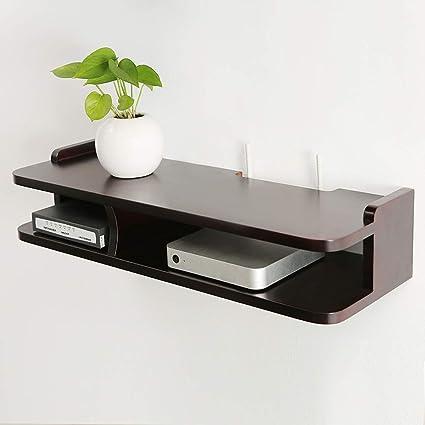Wondrous Amazon Com Solid Wood Wall Shelf Floating Shelf Set Top Box Home Remodeling Inspirations Genioncuboardxyz