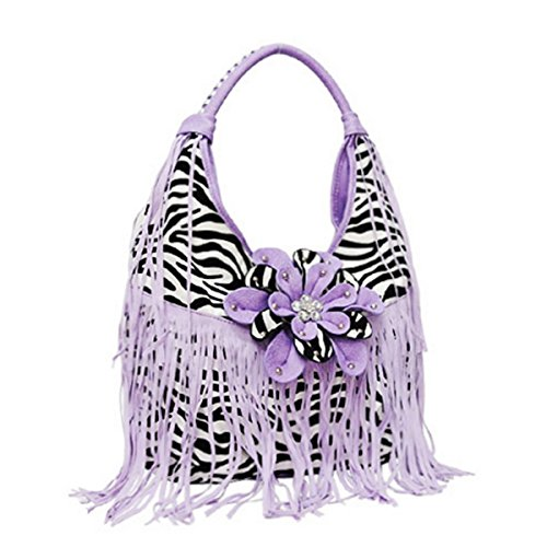 Jimmy Zebra (George Jimmy Zebra Fringe Flower Handbag LAVENDER)