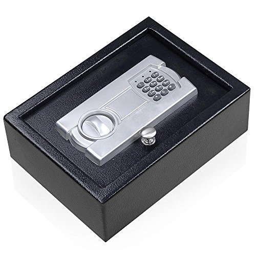 Portable 12X9 Keypad Safe Hand Gun Pistol Drawer Keyless Digital Electronic Lock Car RV Cash ()
