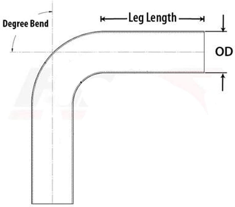 OD 3 100mm 76mm 90 Degree Bend Elbow 3 Inch Aluminum Pipe Tube Leg Length 4 Intercooler Pipe High Class Brushed Treatment Tight Radius Air Intake Tube