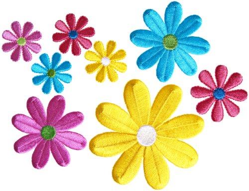 Simplicity farblich sortierten Deckeln Multi-Gänseblümchen, zum Aufbügeln