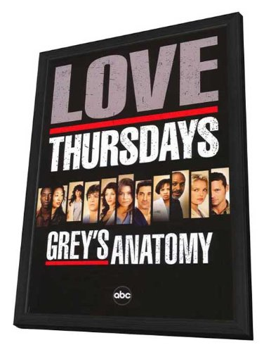 Grey's Anatomy - 11 x 17 Framed TV Poster
