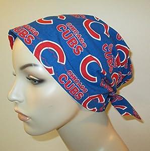 Scrub Cap Chicago Cubs Chemo Hat Alopecia Head Cover Cancer Scarf