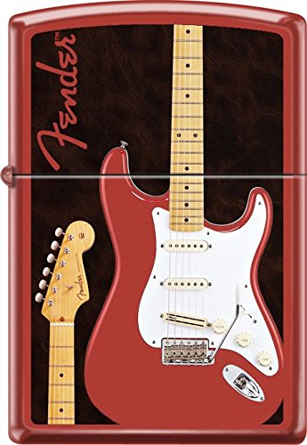 Collectable Hard to Find Fender - Classic Red Matte Zippo