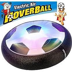 AMENON Kids Air Power Soccer Football Size 4 Boys Girls Sport Children Novelty Toys Training Football Indoor Outdoor Floating Disk Hover Ball Game,Festival Light Up Toys