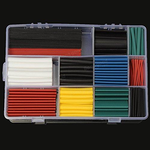 Hiquty 300 PCS Halogen-Free 2:1 Heat Shrink Tubing Wire Cable Sleeving Wrap 8 Size 5 - Oakley.co.uk
