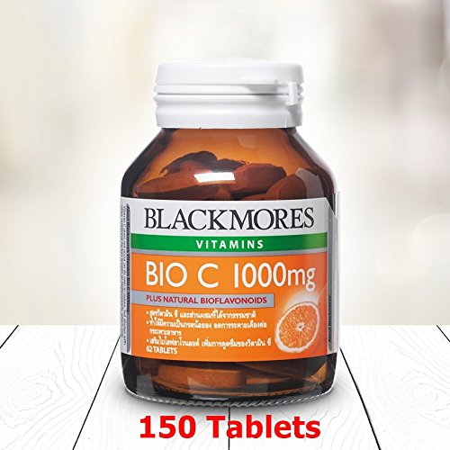 Blackmores Vitamins Bio C 1000 mg Plus Natural Bioflavonoids (Bottle of 150 Tablets) for Vitamin C Deficiency