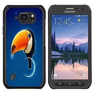 """Be-Star Único Patrón Plástico Duro Fundas Cover Cubre Hard Case Cover Para Samsung Galaxy S6 active / SM-G890 (NOT S6) ( Divertido Toukan Tucán Aves"""" )"""