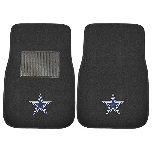 FANMATS 10316 NFL Dallas Cowboys 2-Piece Embroidered Car Mat (Nfl Dallas Cowboys Car Mats)