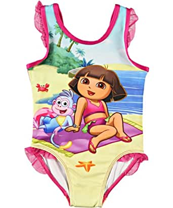Nickelodeon Little Girls' Dora The Explorer Swimsuit (3T, Pink)