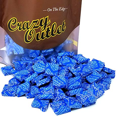 CrazyOutlet Pack - Now and Later Blue Raspberry Flavor Chewy Candy, Long Lasting Taffy Candy, Individually Wrapped, Bulk Pack, 2 lbs