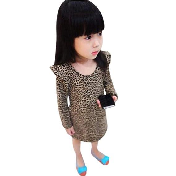 Bestow Vestido de Leopardo para niñas Ropa para niñas Princesa Vestido de Fiesta Bebé niña Niño pequeño: Amazon.es: Ropa y accesorios
