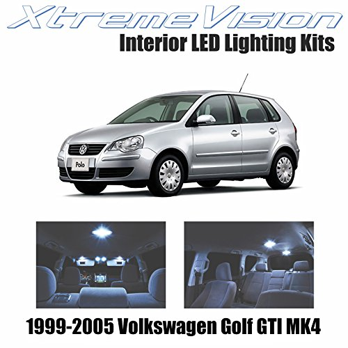 XtremeVision Volkswagen Golf GTI MK4 1999-2005 (9 Pieces) Cool White Premium Interior LED Kit Package + Installation Tool
