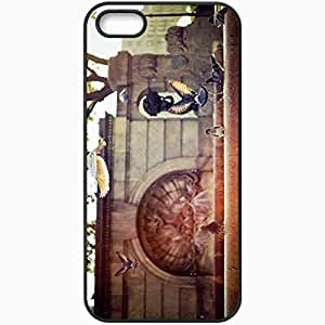 Protective Case Back Cover For iPhone 5 5S Case Fountain Pigeons Black